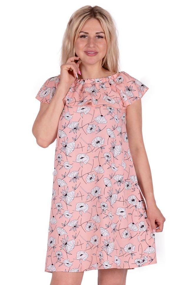 Платье штапельное Джуана (розовое)