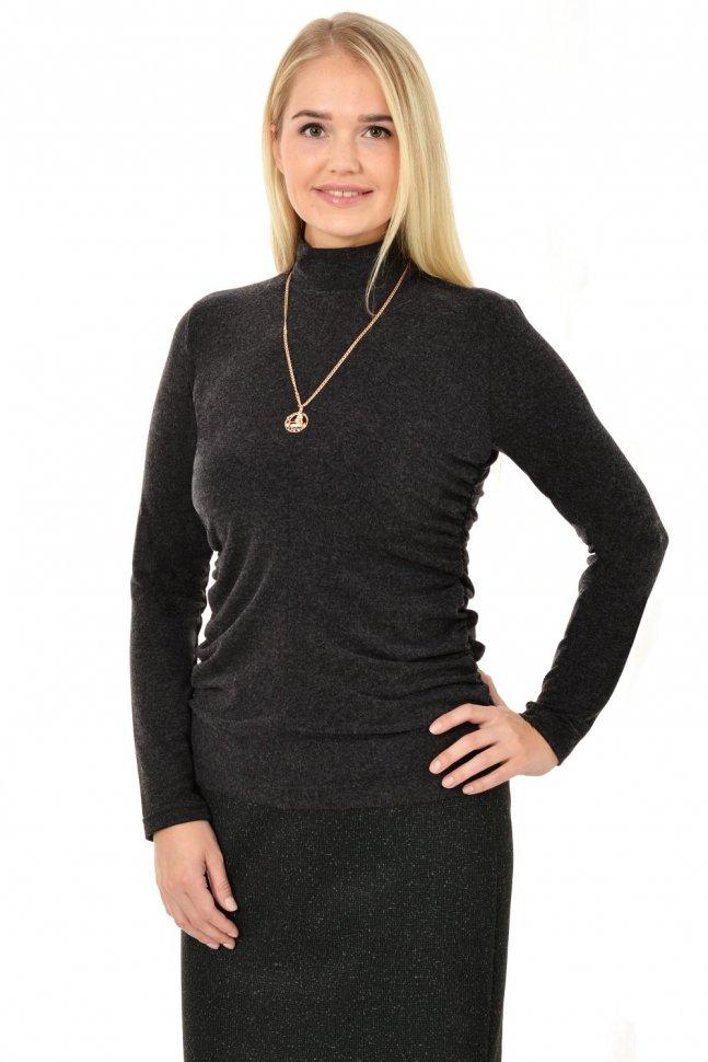 Водолазка трикотажная Лиззи (черная) фото