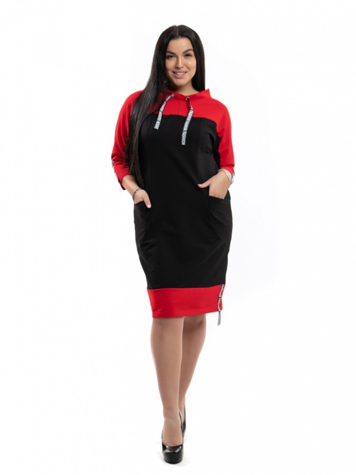 Платье трикотажное Виолет (красное)
