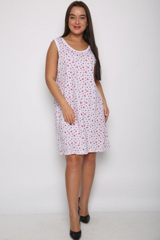 Ночная сорочка Памела (розовые цветы) фото