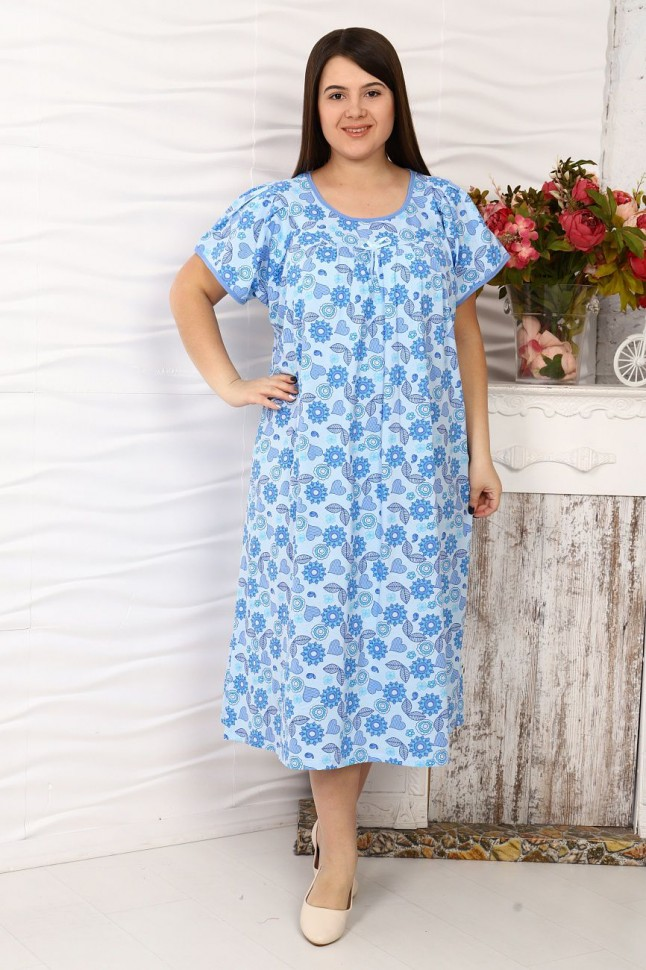 Ночная сорочка Зарина (голубая) фото