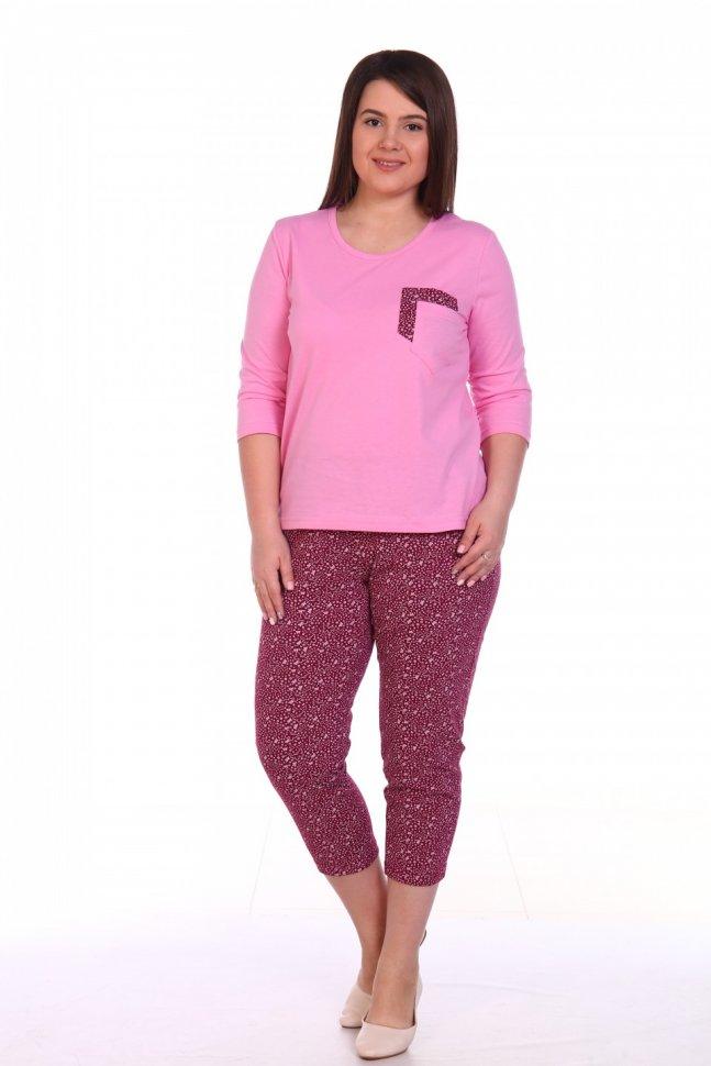 Пижама трикотажная Кэрита (розовая) фото