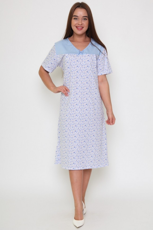 Ночная сорочка Викторайн (голубая) фото