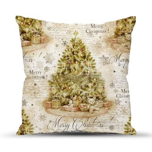 Подушка декоративная 40x40 Новогодний винтаж
