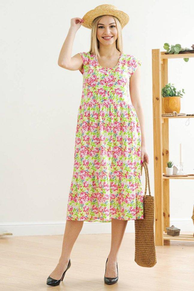 Платье трикотажное Джустина (салатовое)