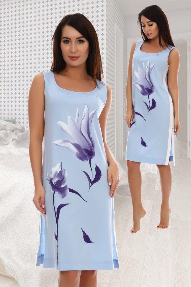 Ночная сорочка Амая (голубая) рр