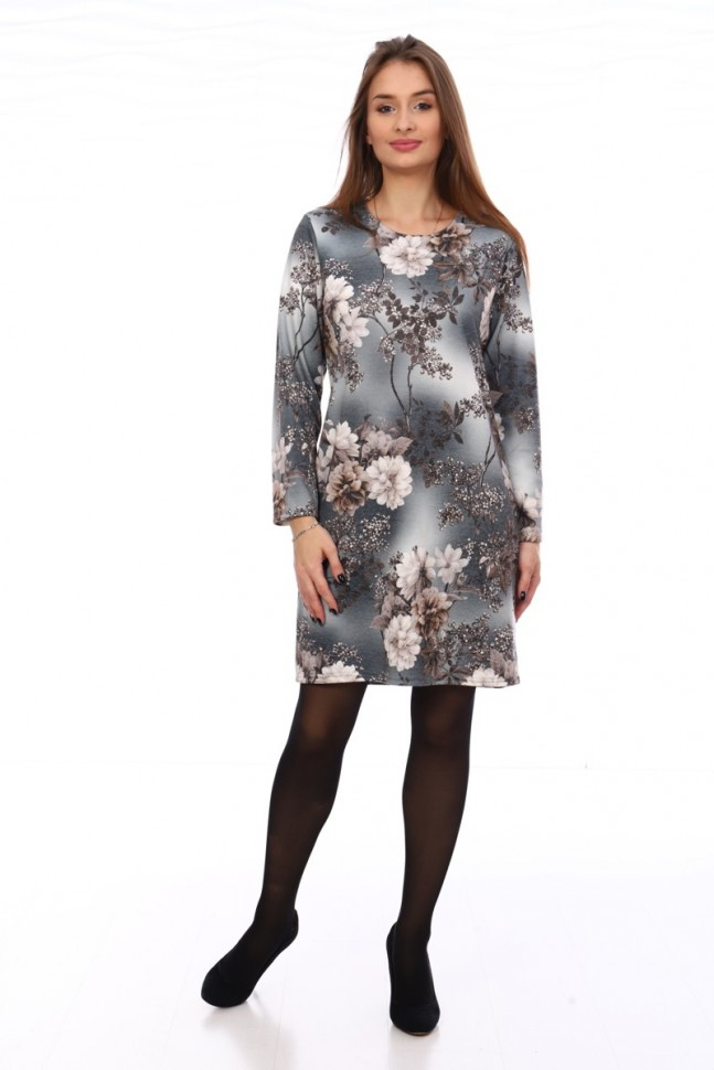 Платье трикотажное Карлин (серое) фото