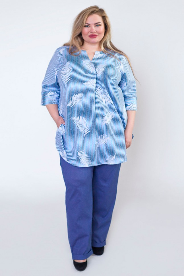Рубашка трикотажная Оксана (перья)