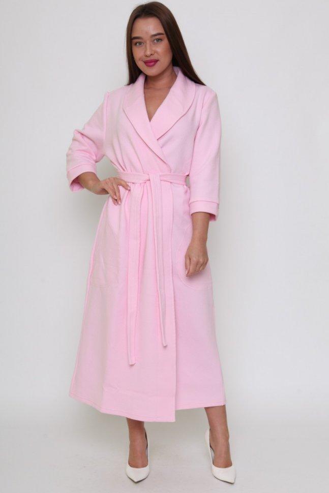 Халат трикотажный Элит (розовый) фото