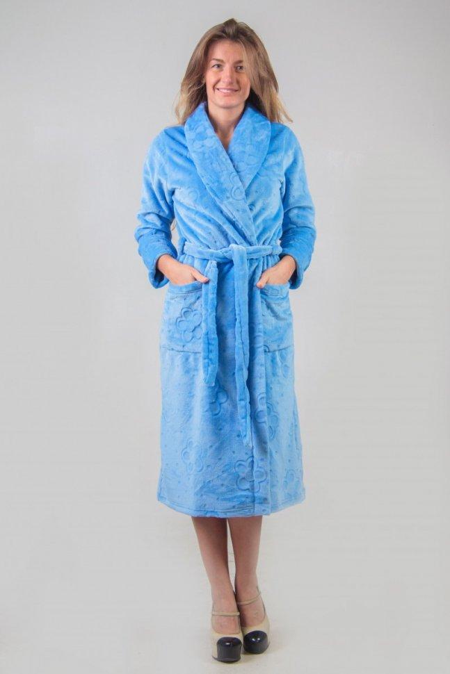 Халат велсофт Ниджелла (голубой) фото