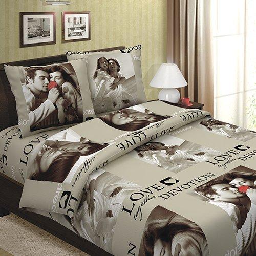 Комплект из бязи 1,5-спальный Сладкая парочка фото