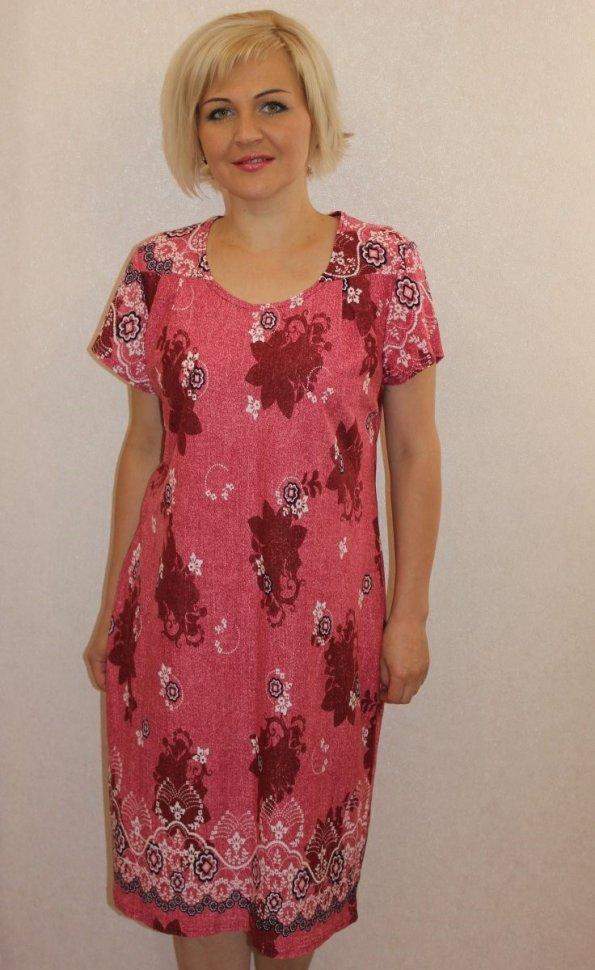 Платье трикотажное Валдис (бордовое) фото