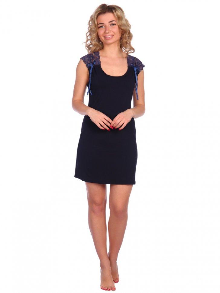 Ночная сорочка Анора (темно-синяя) фото