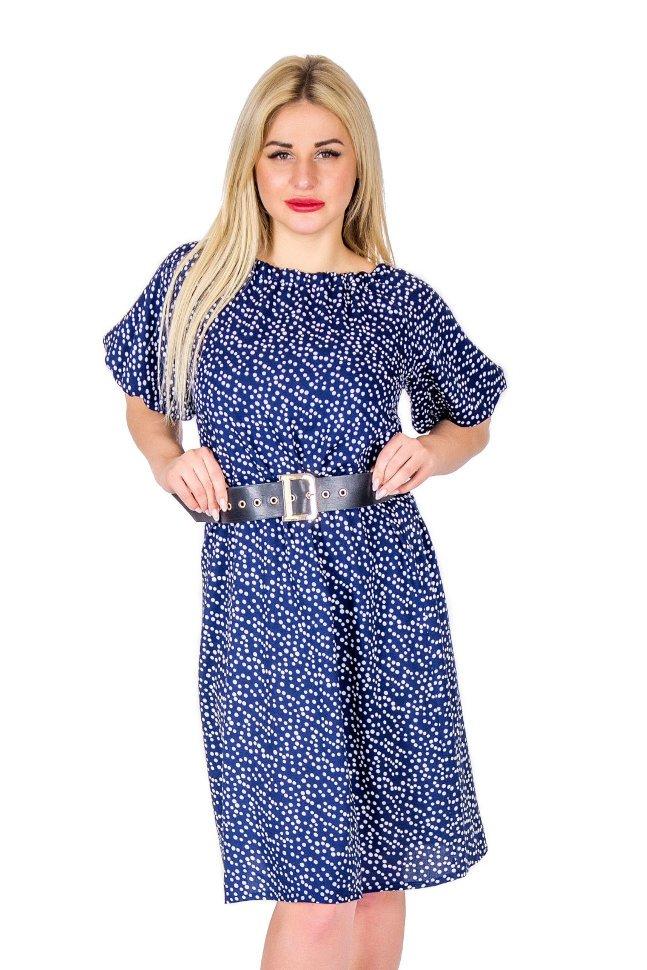 Платье штапельное Изольда (горох) фото