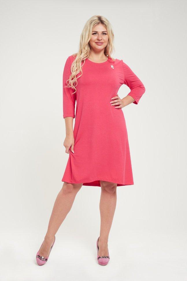 Платье вискозное Хилари (розовое) фото