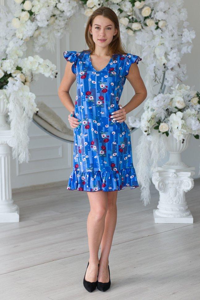 Платье трикотажное Эшель (голубое)