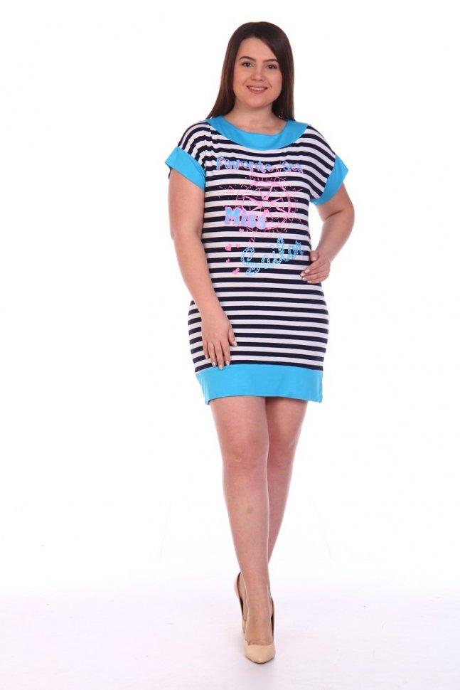 Туника вискозная Розабель (голубая) фото