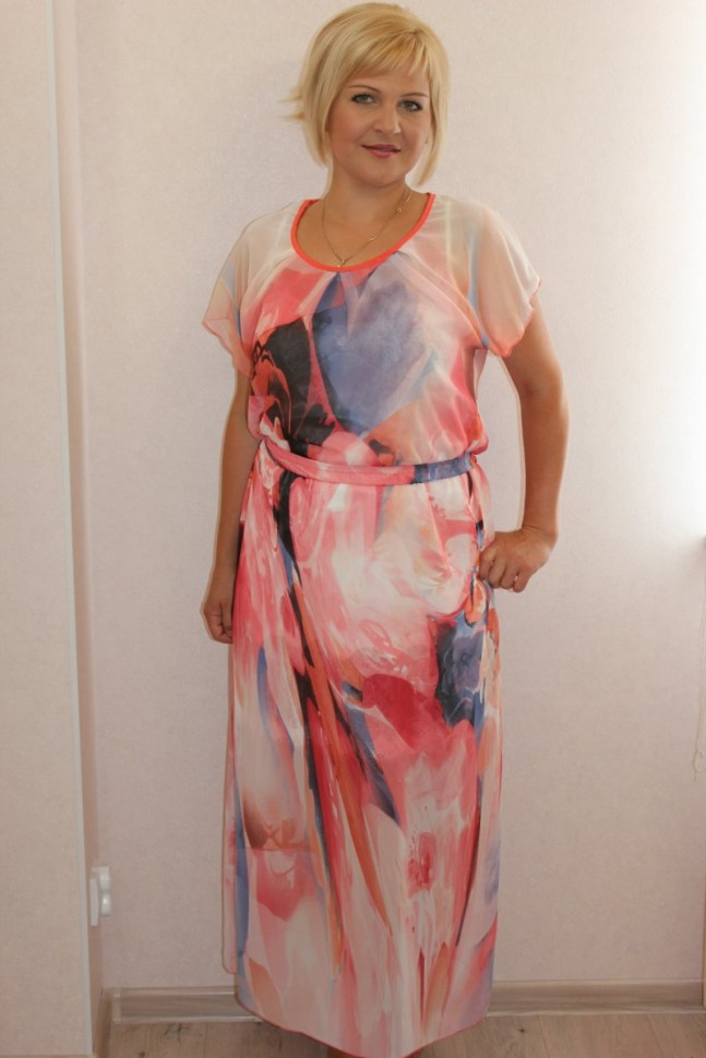 Платье трикотажное Джозефа (розовое) фото