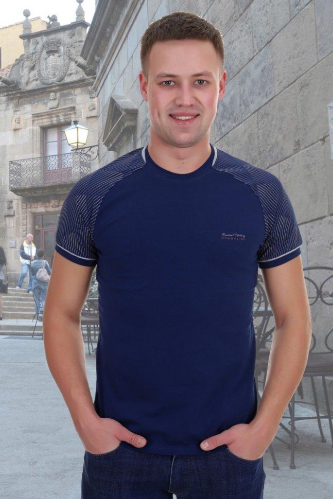 Купить со скидкой Футболка мужская Ястреб (синяя)