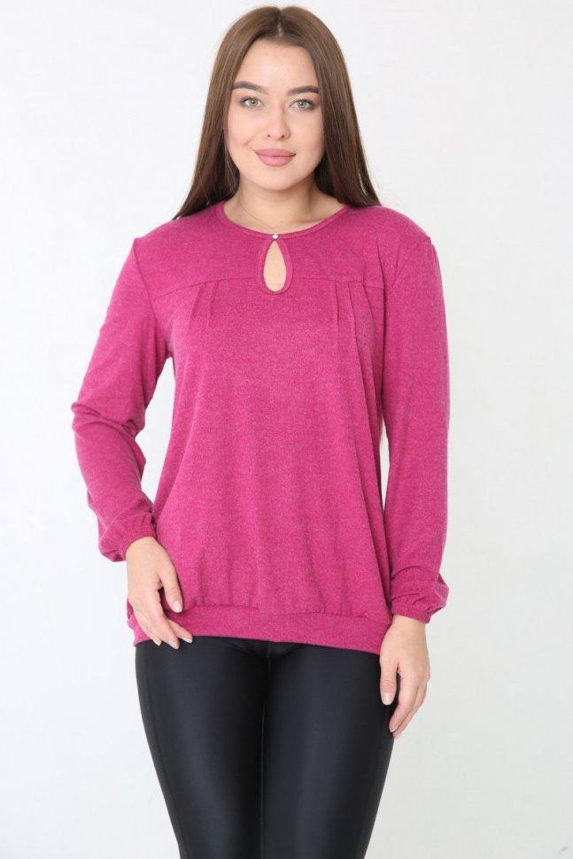 Блуза вискозная ХоллиБлузки и рубашки<br><br>Цвет: Розовый; Размер RU: 44, 46, 48, 50, 52, 54, 56, 58, 60, 62;