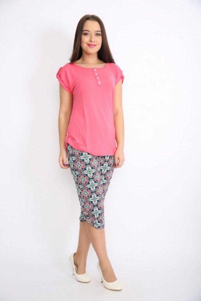 Костюм трикотажный Алиди (розовый)Костюмы<br><br>Цвет: Розовый; Размер RU: 44, 46, 48, 50, 52, 54;