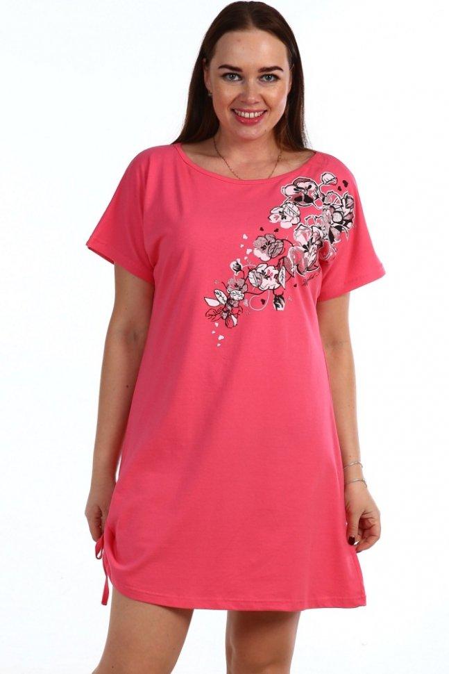 Ночная сорочка Росария (розовая)Ночные сорочки<br><br>Цвет: Розовый; Размер RU: 44, 46, 48, 50, 52, 54, 56, 58, 60, 62;