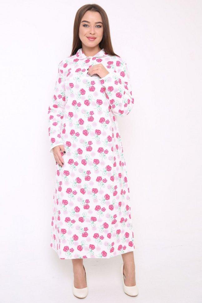 Ночная сорочка Викки (розовая)Ночные сорочки<br><br>Цвет: Белый, Розовый; Размер RU: 46, 48, 50, 52, 54, 56, 58, 60, 62;