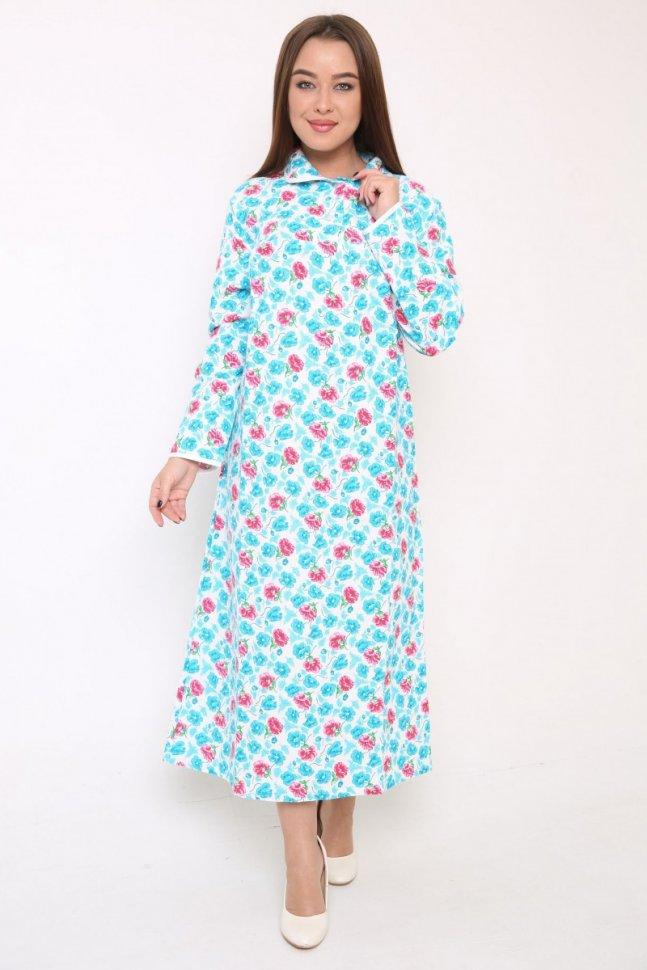 Ночная сорочка Викки (голубая)Ночные сорочки<br><br>Цвет: Розовый, Голубой; Размер RU: 46, 48, 50, 52, 54, 56, 58, 60, 62;