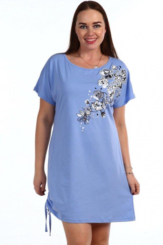 Ночная сорочка Росария (голубая)Ночные сорочки<br><br>Цвет: Голубой; Размер RU: 44, 46, 48, 50, 52, 54, 56, 58, 60, 62;
