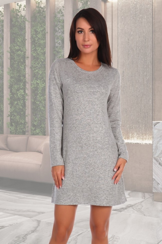 Купить со скидкой Платье из кашемира Мария (серое)