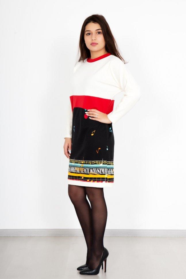 Платье трикотажное Ноты