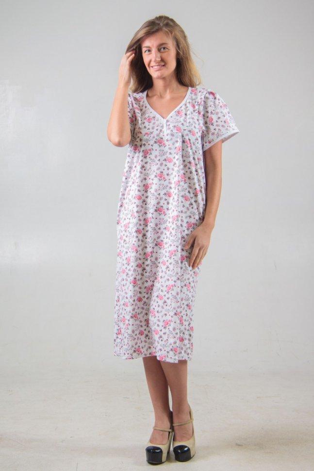 Ночная сорочка ДезираНочные сорочки<br><br>Цвет: Белый, Розовый; Размер RU: 46, 48, 50, 52, 54, 56, 58, 60, 62, 64;