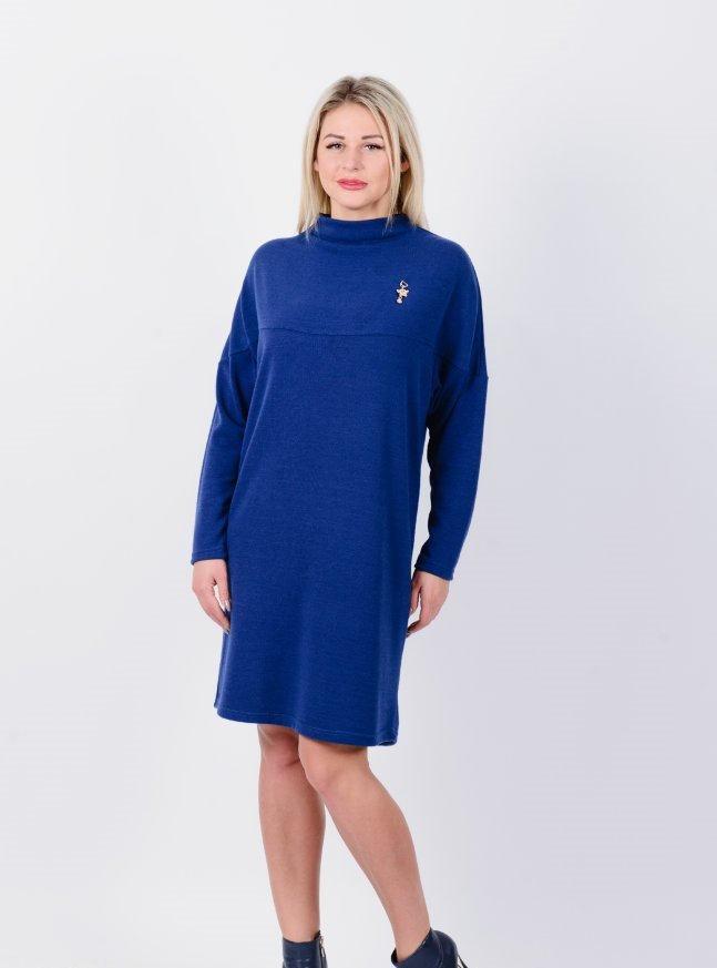 Платье трикотажное Лотос (синее)