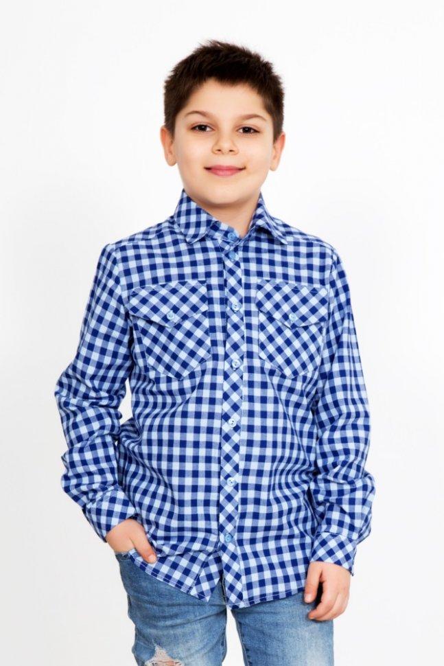 Рубашка детская Митяй (синяя)Рубашки<br><br>