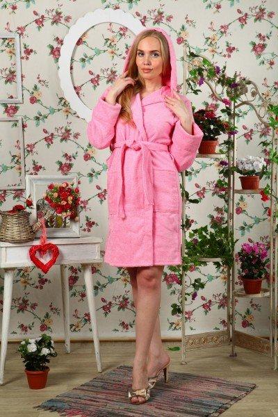 Халат махровый Луанна (розовый)Халаты<br><br>Цвет: Розовый; Размер RU: 42, 44, 46, 48, 50, 52;