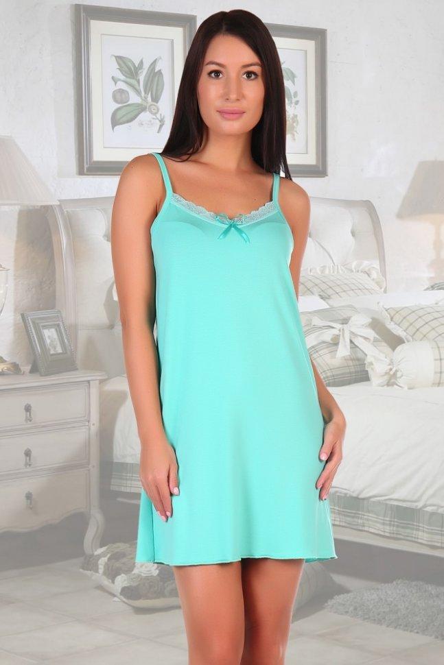 Ночная сорочка Пассаж (ментоловая)Ночные сорочки<br><br>Цвет: Зеленый; Размер RU: 42, 44, 46, 48, 50, 52, 54, 56;