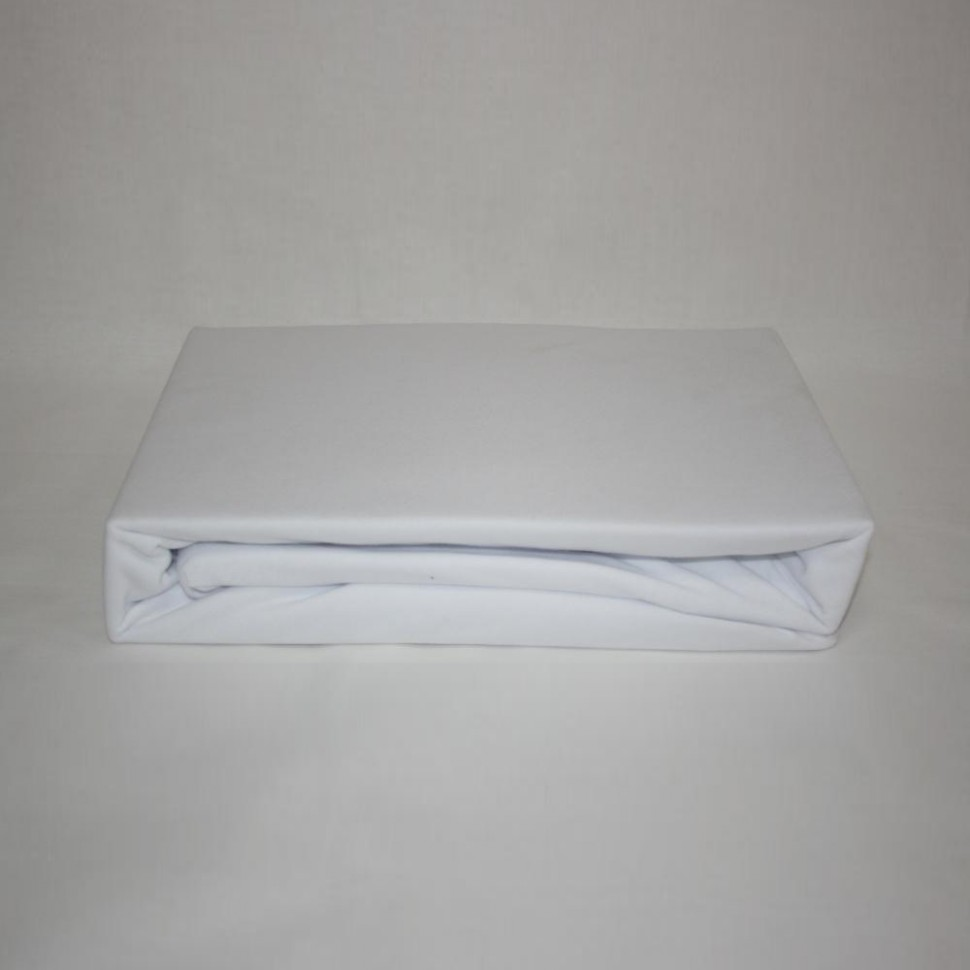 Простынь на резинке трикотажная 200x200 (белая)Простыни на резинке<br><br>Цвет : Белый;