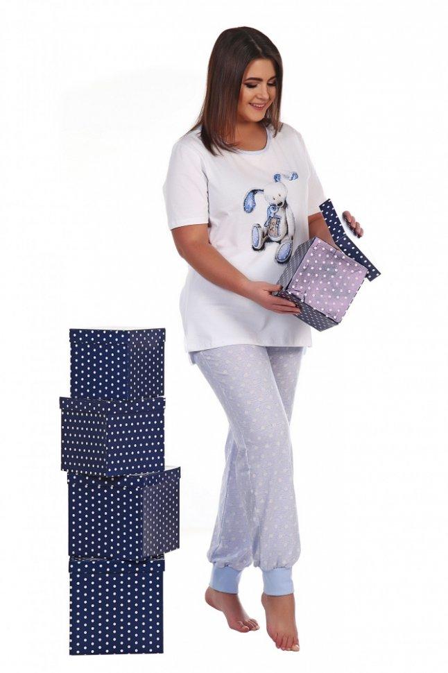 Пижама трикотажная Элена (голубая)