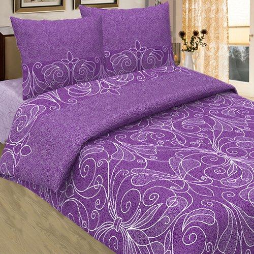 Комплект из бязи семейный Жемчужина (фиолетовый)Бязь<br><br>Цвет: Фиолетовый;