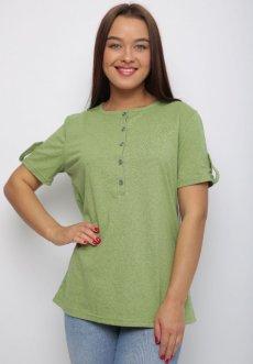 Женская трикотажная блузка Нола (зеленая)