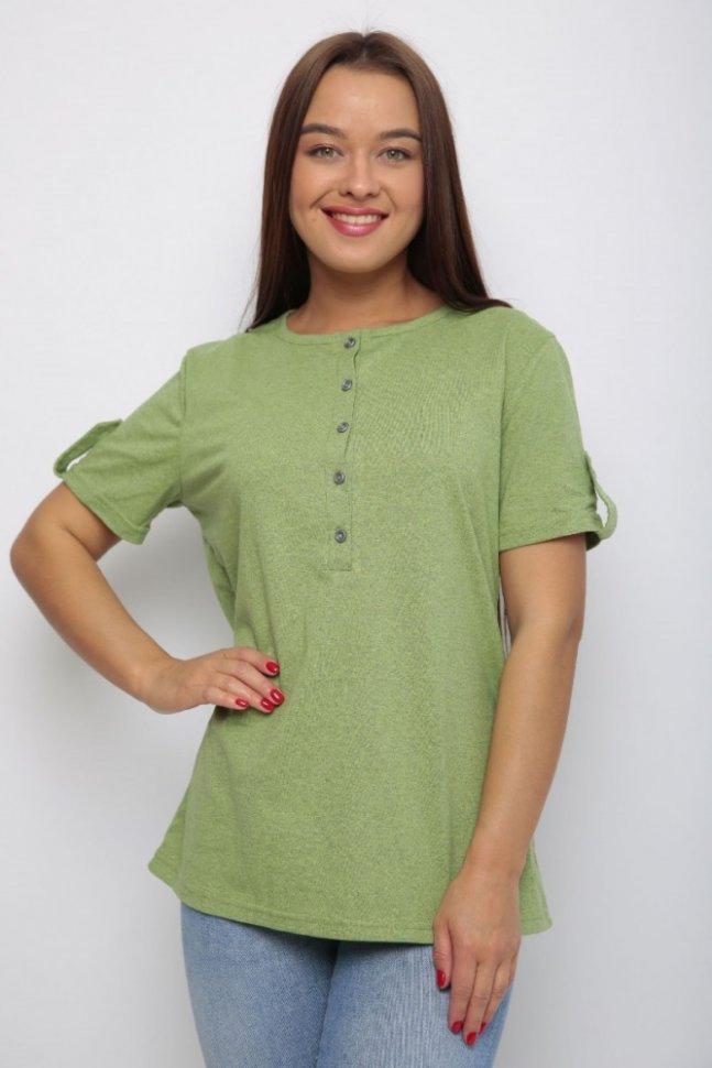Блуза трикотажная Нола (зеленая)