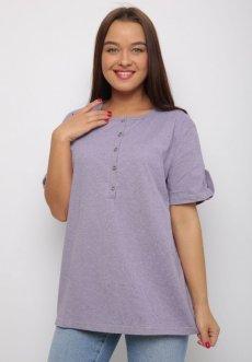 Женская трикотажная блузка Нола (фиолетовая)