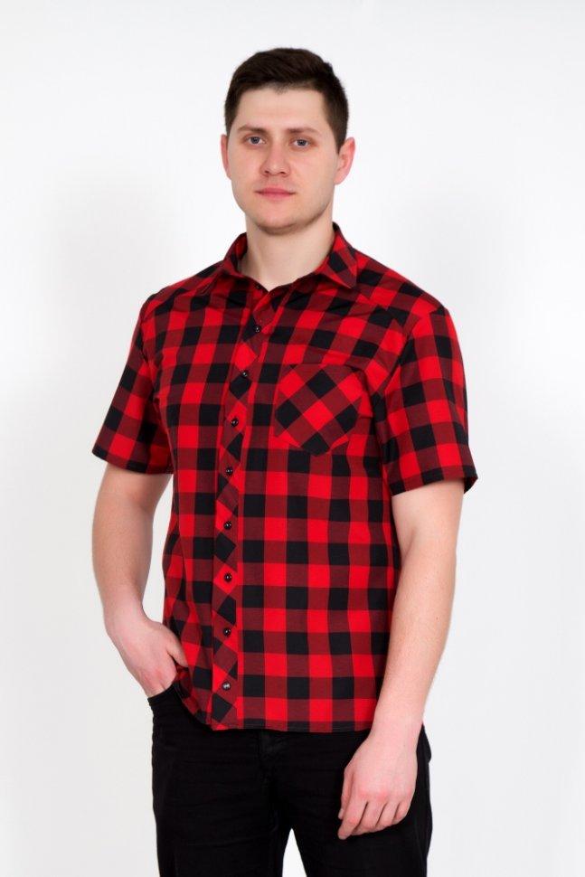 Рубашка мужская Армандо (красная)Рубашки<br><br>Цвет : Красный; Размер : 48, 50, 52, 54, 56, 58, 60, 62, 64, 66;