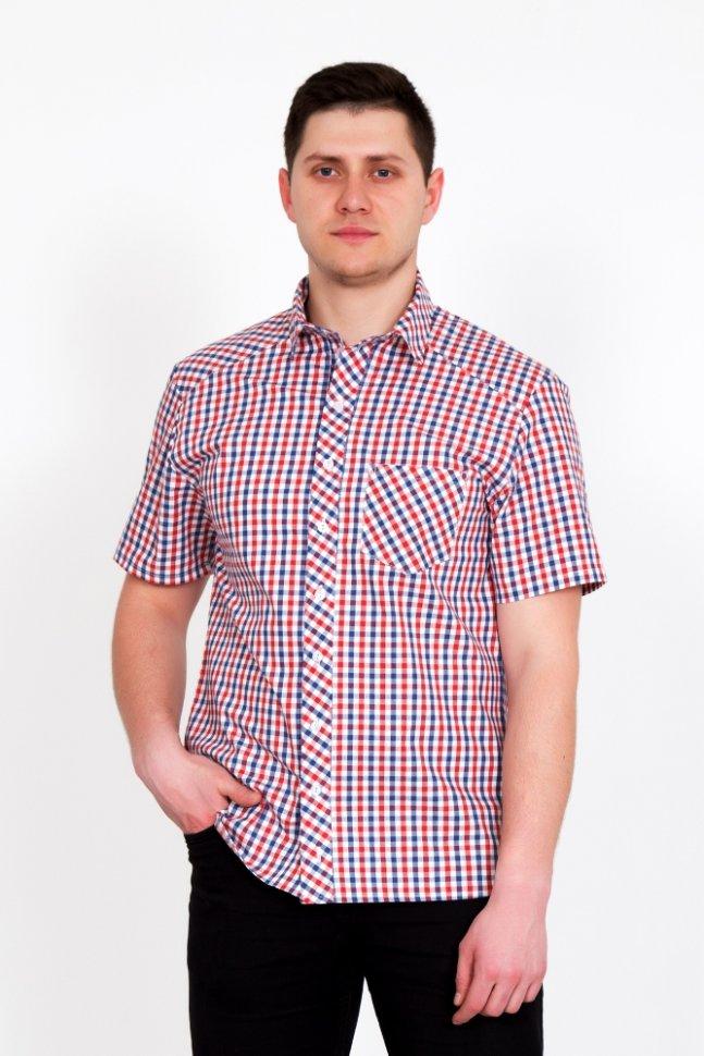 Рубашка мужская ОливерРубашки<br><br>Цвет: Красный, Синий; Размер RU: 50, 52, 54, 56, 58, 60, 62, 64, 66;