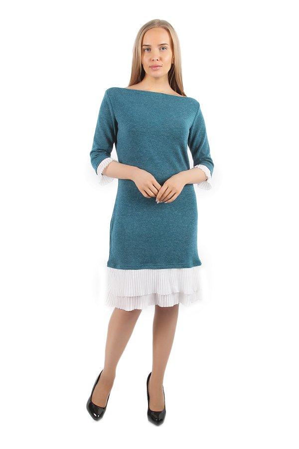 Платье трикотажное Зена (бирюзовое)