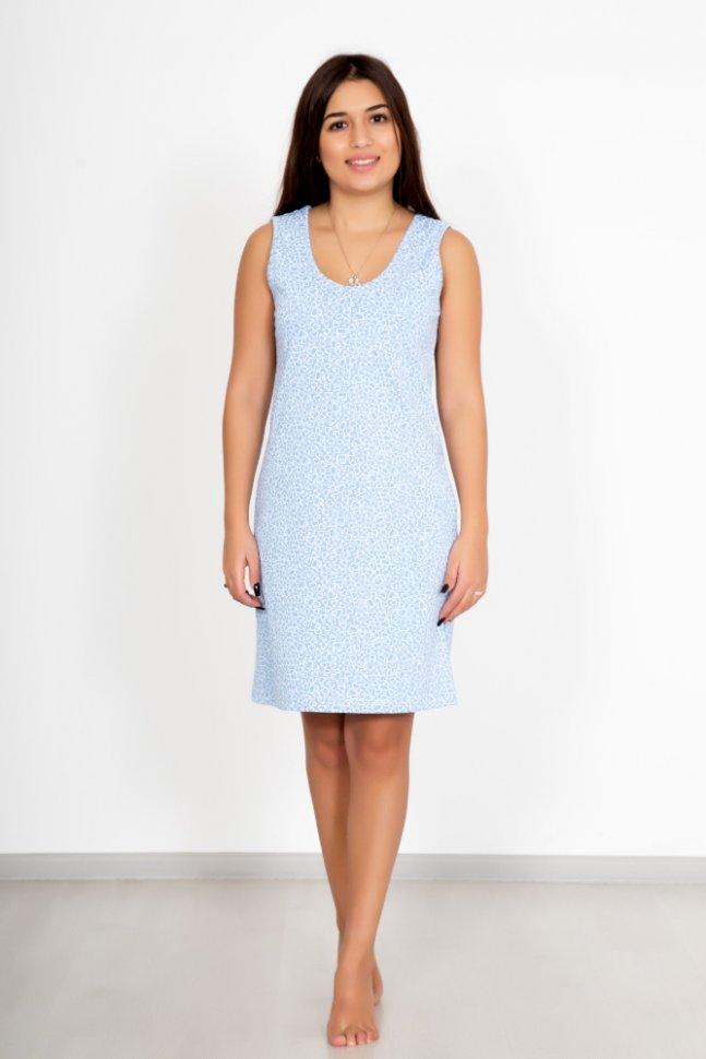 Ночная сорочка Лалия (голубая)Ночные сорочки<br><br>Цвет: Голубой; Размер RU: 44, 46, 48, 50, 52, 54;