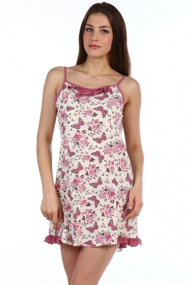 Ночная сорочка Восход (бело-розовая)