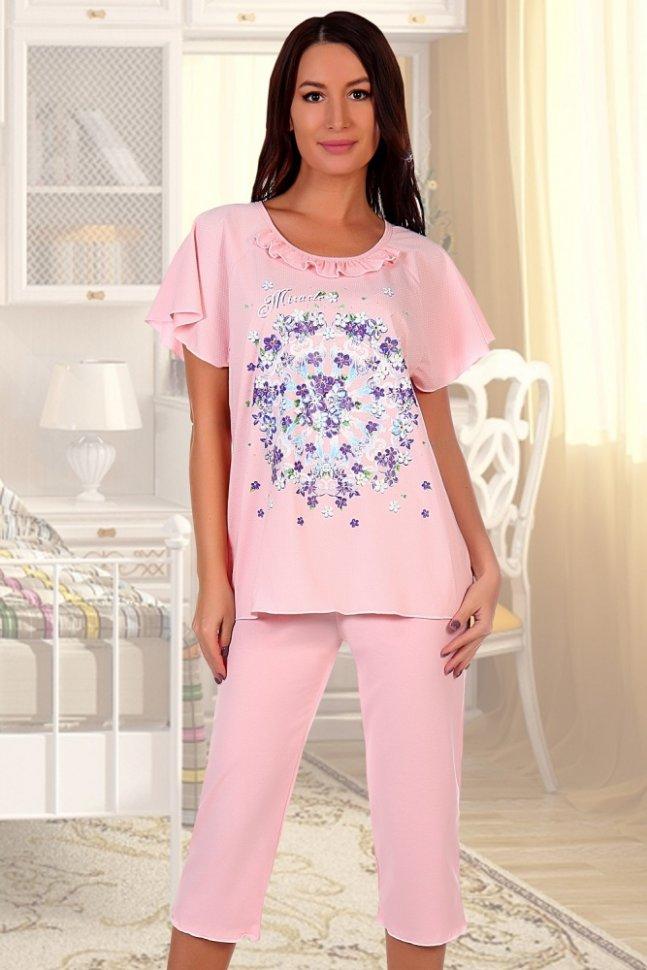 Купить со скидкой Пижама трикотажная Глициния (розовая)