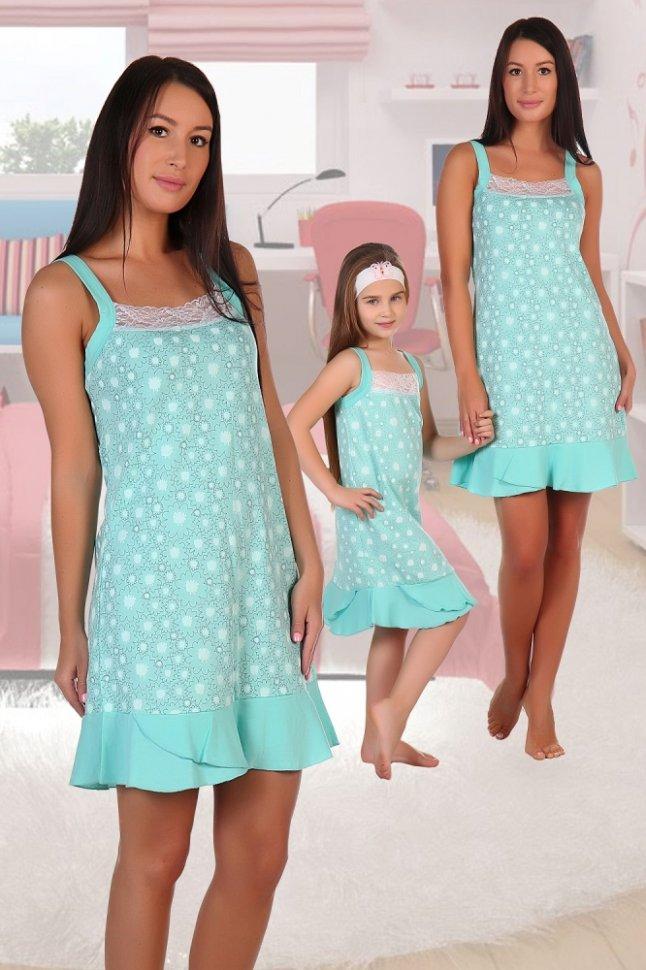 Ночная сорочка ИстокНочные сорочки<br><br>Цвет: Зеленый; Размер RU: 42, 44, 46, 48, 50, 52;