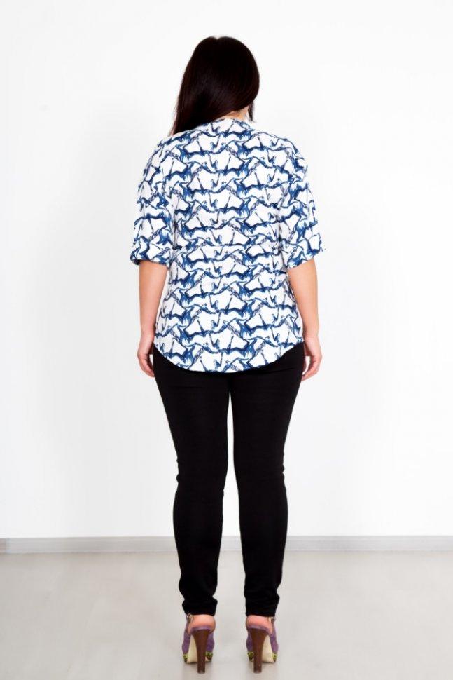 Блуза трикотажная Кантри (белая)